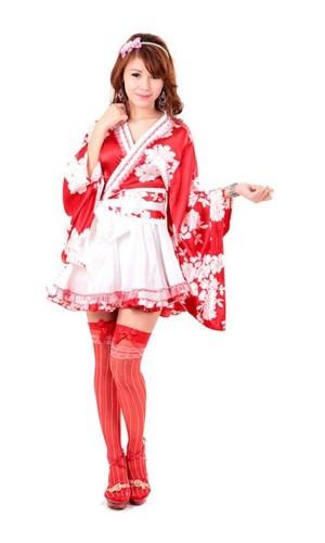 Asiatisk Kimono med Rosett Kimono Klänningar