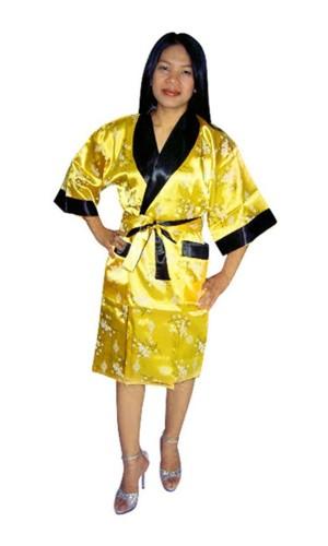 Asiatisk Morgonrock Unisex Kimono Morgonrock