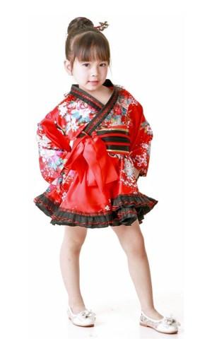 Blomstermotiv Kimono Barnklänning Kimono Barnklänningar