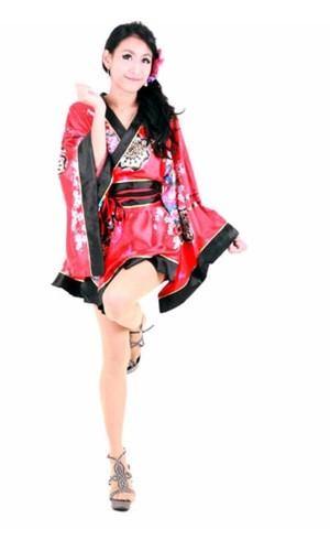 Blomstermotiv Kimono Kimono Klänningar