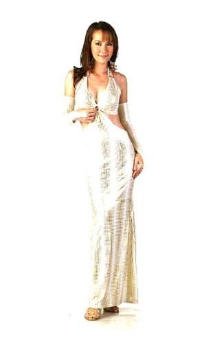 Fashionabel Guld Klänning Långa  Klänningar