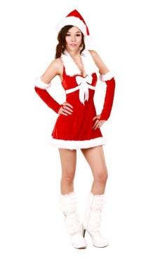 Flörtig Tomte Klänning Jul Klänningar