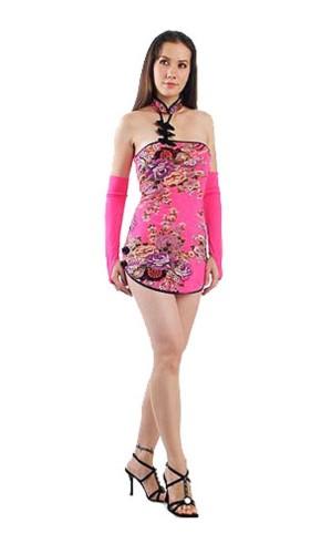 Förförisk Asien Miniklänning Asiatiska Klänningar