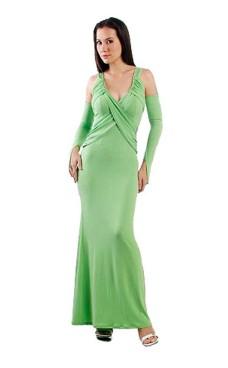 Förförisk Grön Klänning Långa  Klänningar