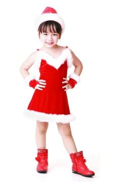 Förtjusande Tomte Barnklänning Jul Barnkostymer