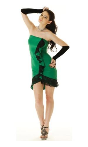 Grön Salsaklänning Korta  Klänningar