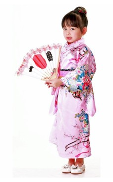 Japanska Kimono Barnklänning
