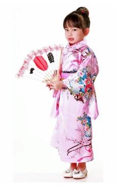 Japanska Kimono Barnklänning Kimono Barnklänningar