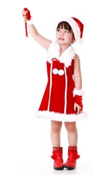 Jul Prinsessa Barnklänning Jul Barnkostymer