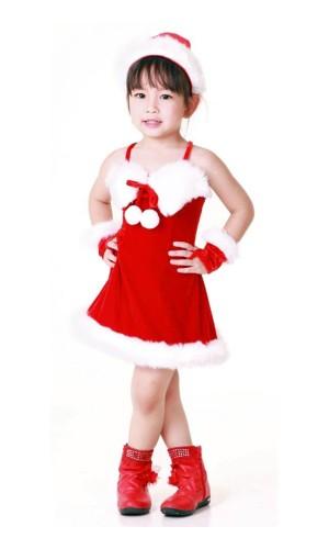 Jultomten Barnklänning Jul Barnkostymer