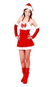 Jultomten Tjej Kostym Jul Klänningar