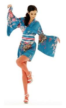 Kort Turkos Kimono Klänning