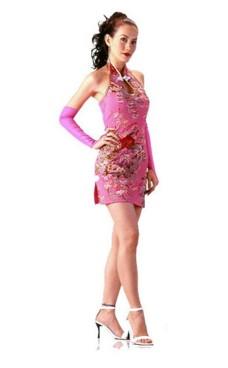 Läcker Kort Rosa Cheongsam Asiatiska Klänningar