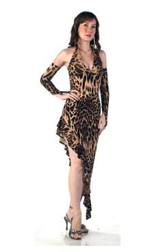 Leopard Salsa Klänning Långa  Klänningar