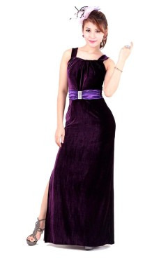 Luxurious Purple Evening Dress Long Dresses