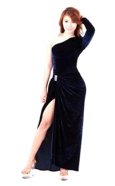 Mörkblå Aftonklänning Långa  Klänningar
