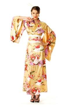 Persika Kimono Klänning Kimono Klänningar