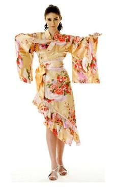 Persika Yukata Klänning Kimono Klänningar