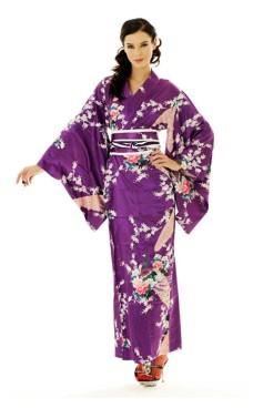 Purpur Kimono Klänning