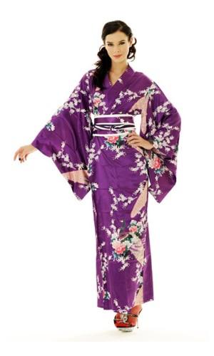 Purpur Kimono Klänning Kimono Klänningar