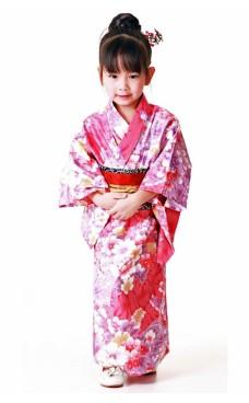 Rosa Kimono Barnklänning Kimono Barnklänningar