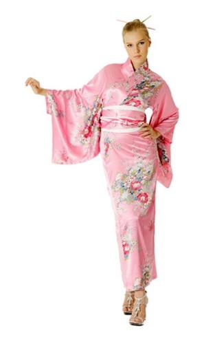 Rosa Kimono Klänning Kimono Klänningar