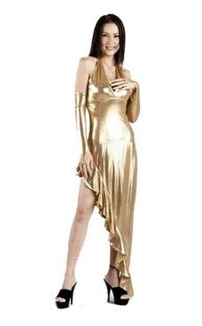 Sexig Guld Klänning Långa  Klänningar