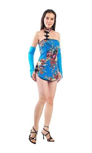 Sexig Kinesisk Miniklänning Asiatiska Klänningar