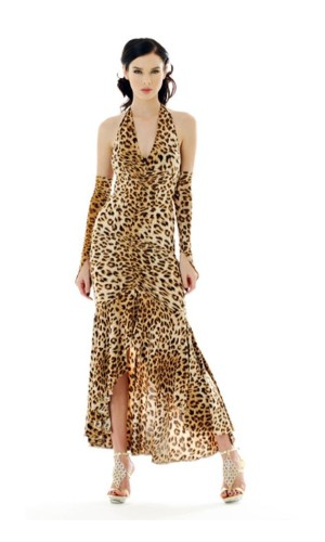 Sexig Leopardklänning Långa  Klänningar