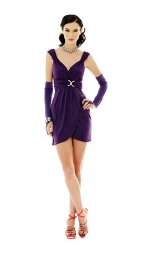Sexig Purpur Miniklänning Korta  Klänningar