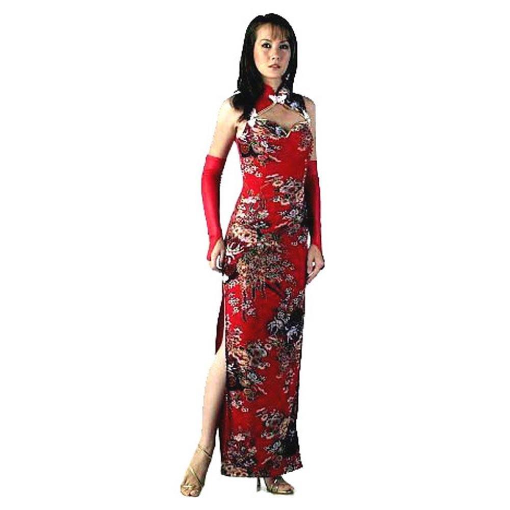 ce511bb0c0b2 Sexig Röd Kinesisk Klänning - Asiatiska Klänningar