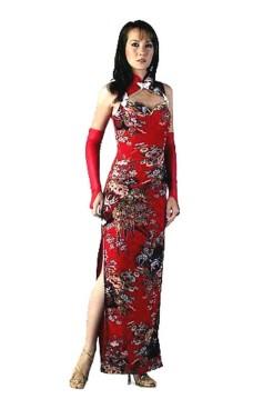 Sexig Röd Kinesisk Klänning Asiatiska Klänningar