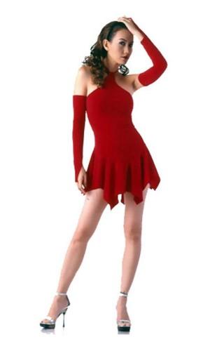 Sexig Röd Miniklänning Korta  Klänningar