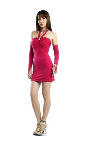 Sexig Rosa Miniklänning Korta  Klänningar