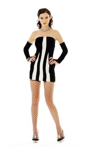 Sexig Zebra Klänning Korta  Klänningar