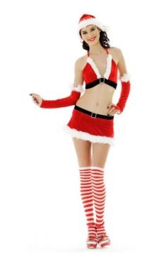 Sexy Santa Girl Skirt Set Christmas Dresses