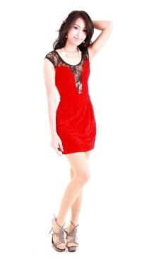 Short Red Lace Dress Short Dresses