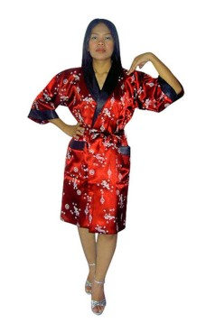 Siden Morgonrock Unisex Kimono Morgonrock