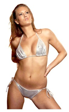 Skimrande Silver Bikini Bikinis