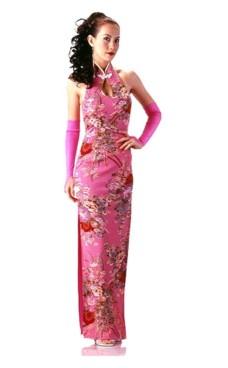Skön Rosa Cheongsam Asiatiska Klänningar