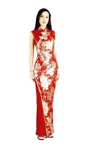 Stilig Röd Asien Klänning Asiatiska Klänningar