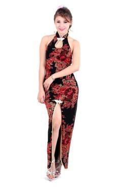 Stilig Svart Asien Klänning Asiatiska Klänningar