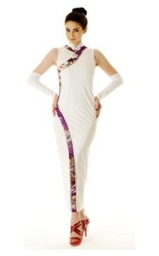 Stilig Vit Asien Klänning Asiatiska Klänningar