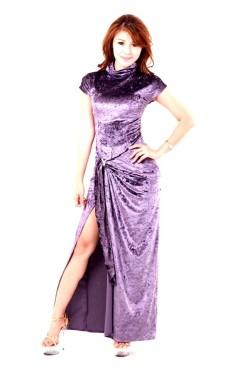 Stylish Lavender Blue Dress Long Dresses