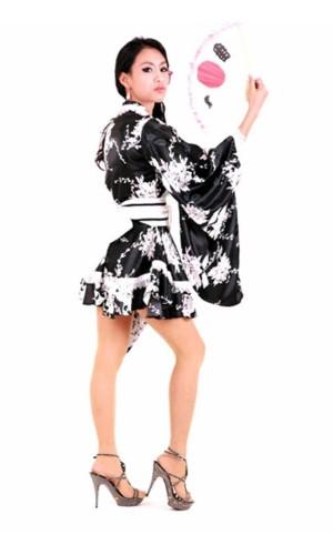 Svart A-linjeformat Kimono Kimono Klänningar