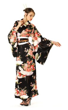 Svart Kimono Klänning Kimono Klänningar