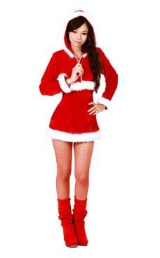 Tomte Hoodie Kostym Jul Klänningar