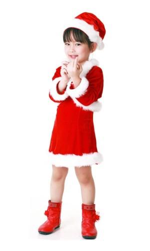 Tomte Jacka Barnklänning Jul Barnkostymer