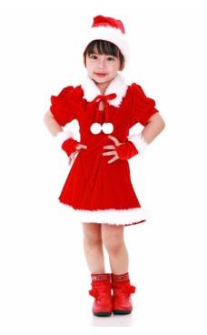 Tomtens Medhjälpare Barnklänning Jul Barnkostymer