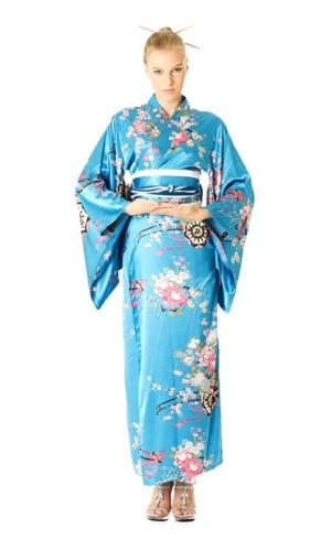Turkos Kimono Klänning Kimono Klänningar